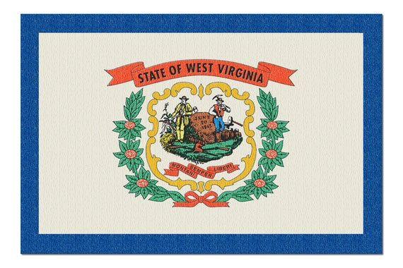 West Virginia State Flag - Letterpress (20x30 Premium 1000 Piece Jigsaw Puzzle, Made in USA!) #westvirginia