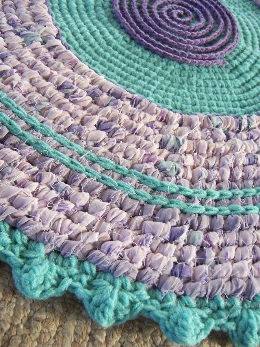 Hand Crafted Toothbrush Rag Rug Crochet