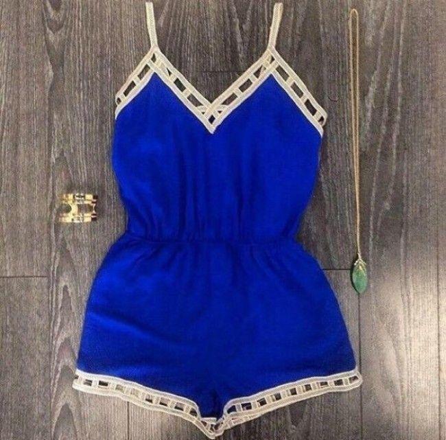 Elizabeth blue jumpsuit