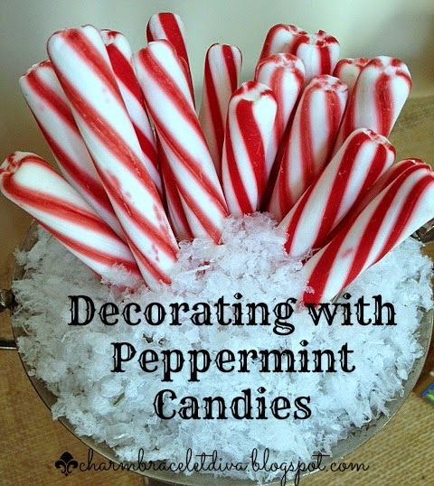 Charm Bracelet Diva {at Home}: Christmas Decorating with Peppermint Candies