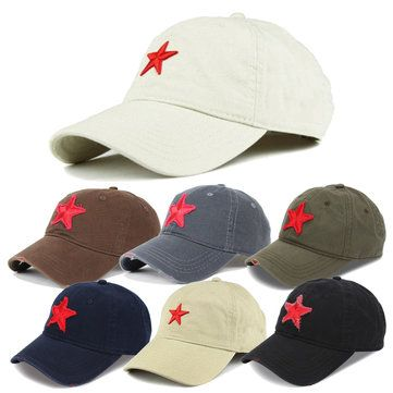 Unisex Baseball Cap Golf Hat Ball Five-Pointed Star Embroidery Casual Sun  Caps Outdoor Sports Hat 8bf2cb15cba8