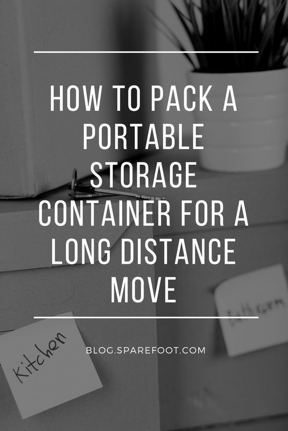 How to Pack a Portable Storage Container For a Long ...