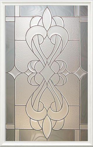 Mastercraft st rafael 22 x 36 decorative glass for - Menards exterior doors with glass ...