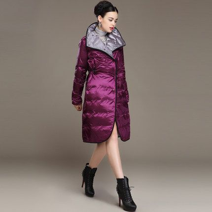 $379.00 (Buy here: http://appdeal.ru/e5wj ) Winter 2014 New Woman Luxury Plus Long White Goose Down Down Ms Sided Wear Parkas Coat for just $379.00