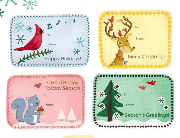 free printable christmas gift cards