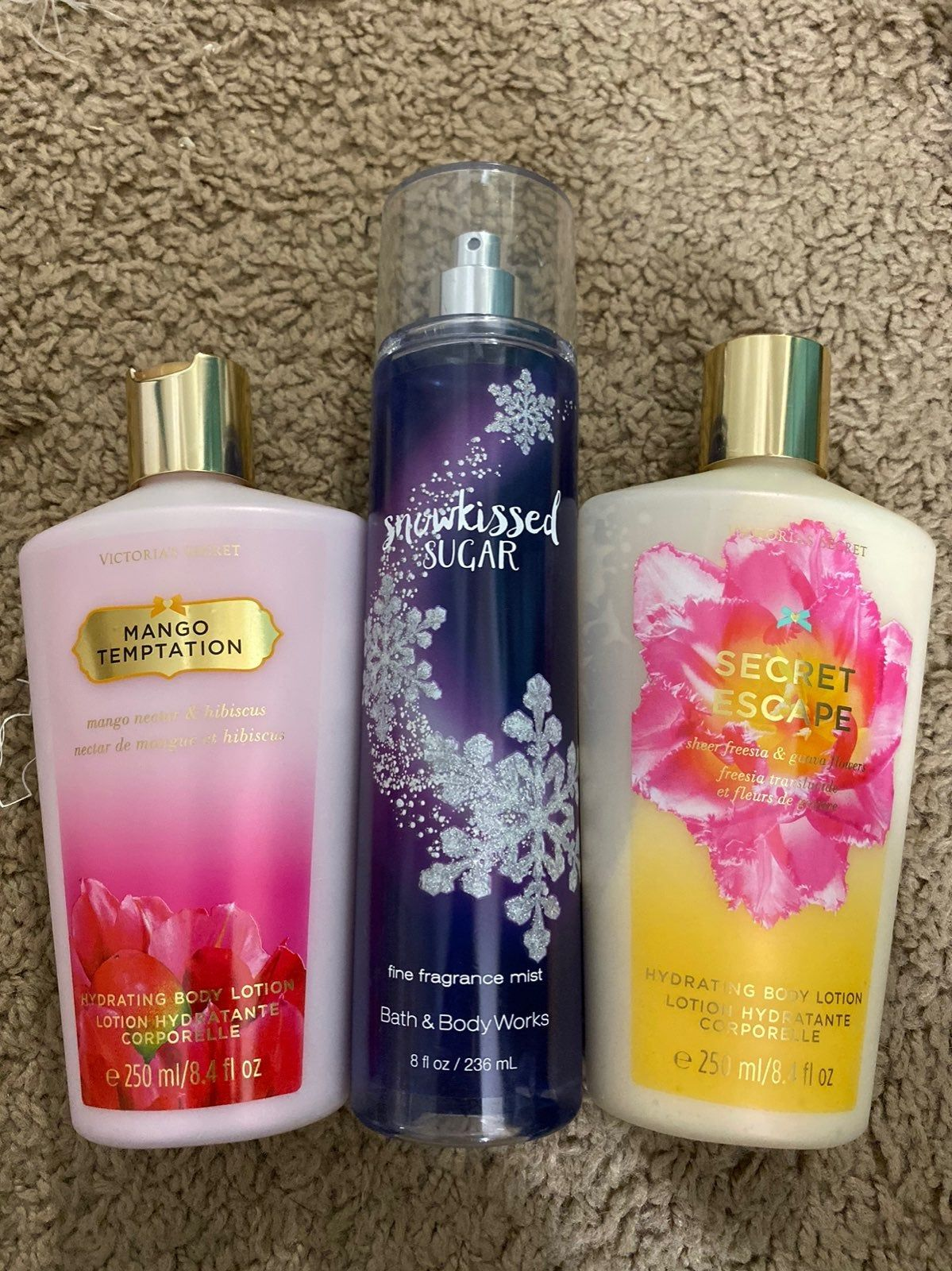 2 Vs Lotions And A Bath And Body Works Spray Bath And Body Works