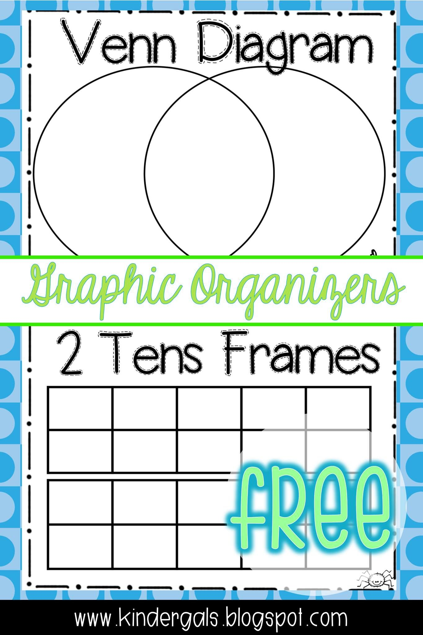 venn diagram and 2 tens frames free downloads for kindergarten teachers  [ 1365 x 2048 Pixel ]