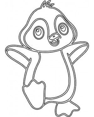 Песочные Магниты Пингвинчик | Трафареты, Детское ...