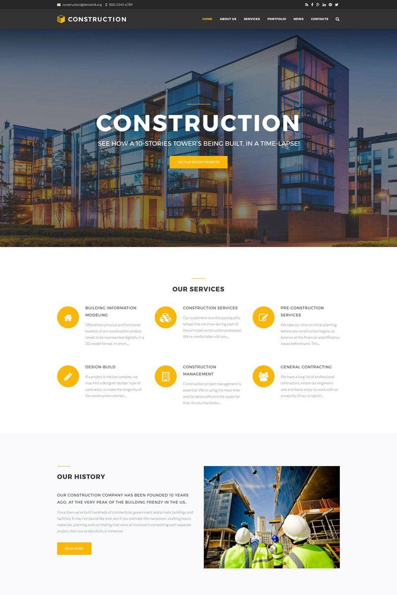 Construction Company Premium Drupal Template Big Screenshot