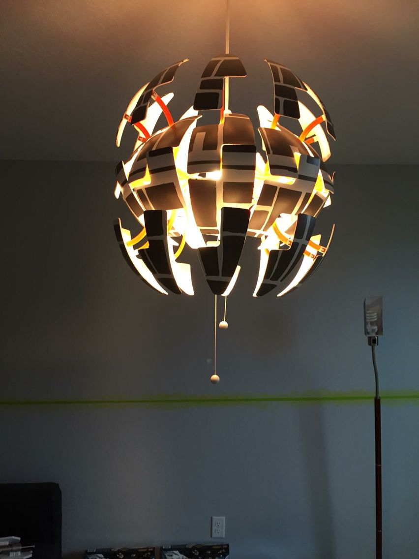 Exploding Death Star lamp ikea hack | B&B Bedroom ...