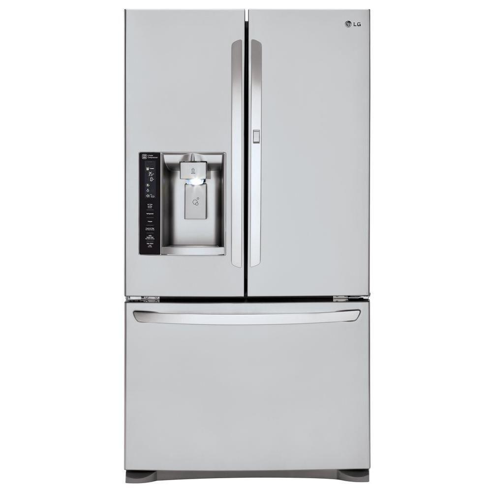 Lg Electronics 26 6 Cu Ft French Door Refrigerator With Door In Door In Stainless Steel Lfxs27566s French Door Refrigerator French Doors Best French Door Refrigerator