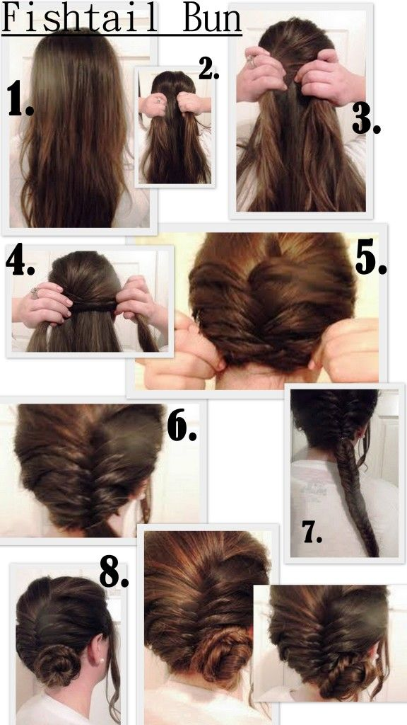 Fishtail Side Bun I M Soo Doing This To One Of My Friends That Have Long Hair Hair Styles Braids For Short Hair Short Hair Tutorial