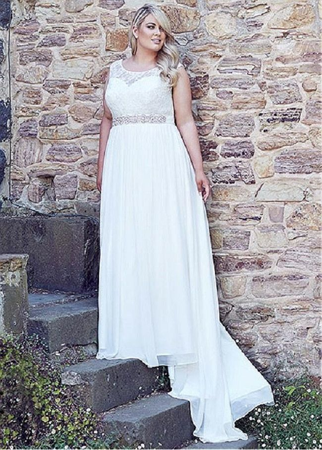 Plus Size Bridal Gown Beach Wedding Dress At Bling Brides