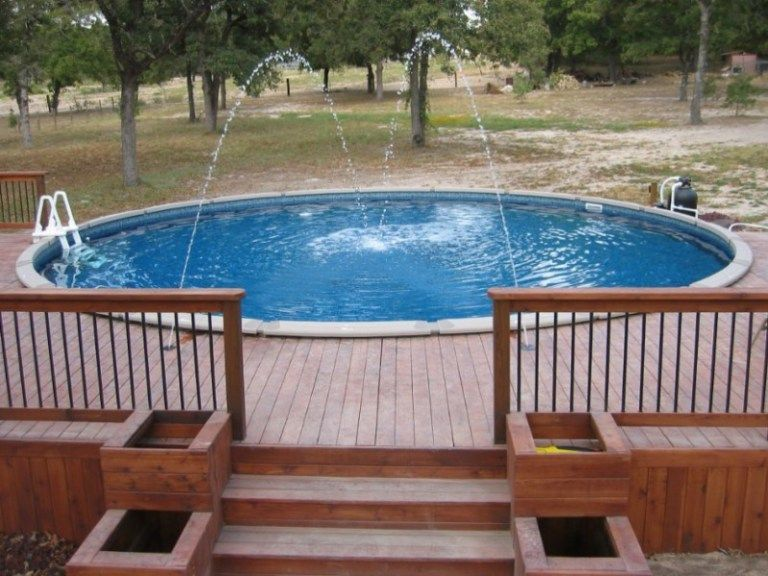 Above Ground Pool Decks Waterfall Round Above Ground Pool Swimming Pool Decks Above Ground Pool Landscaping