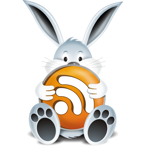 """""""RSS Bunny Icon"""", comes in 32x32, 64x64, 128x128, 256x256"""