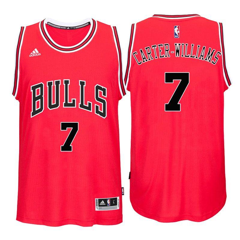Bulls  7 Michael Carter-Williams 2016 Road Red New Swingman Jersey ... f279b212d