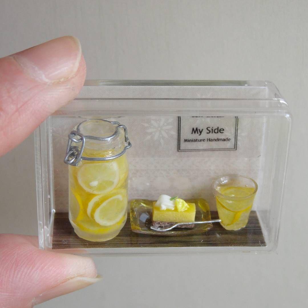 Dollhouse Miniature Canning Jar of Lemons