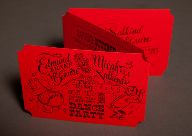 Einladungskarten · Very Cool Letterpress Invite From Ladyfingers Letterpress