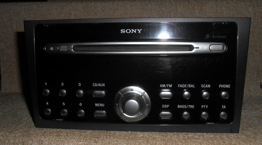 genuine ford mondeo mk3 sony 6 cd changer radio unit with. Black Bedroom Furniture Sets. Home Design Ideas