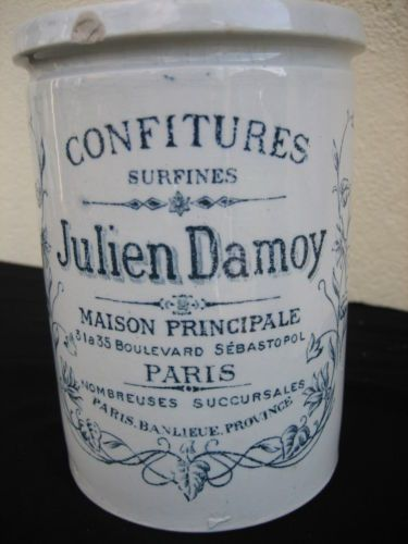 ancien pot confiture surfines julien damoy paris kg luneville ebay product pinterest. Black Bedroom Furniture Sets. Home Design Ideas