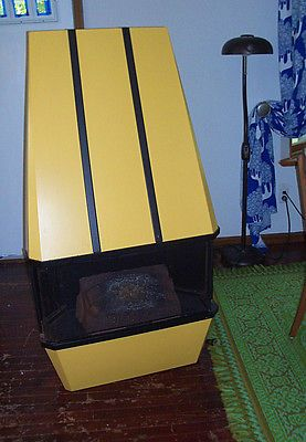 Vintage fireplace electric 50s metal heater space age eames mid
