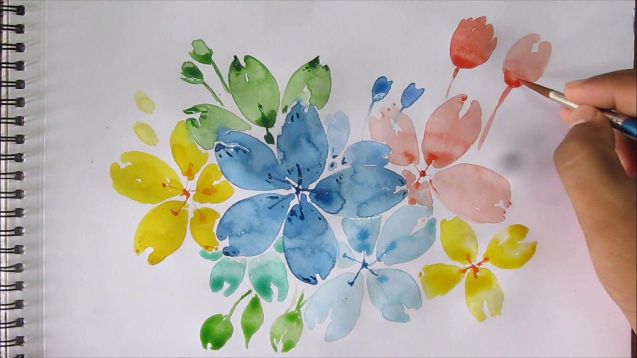 Easy Watercolor Canvas Easy Watercolor Painting For Begin