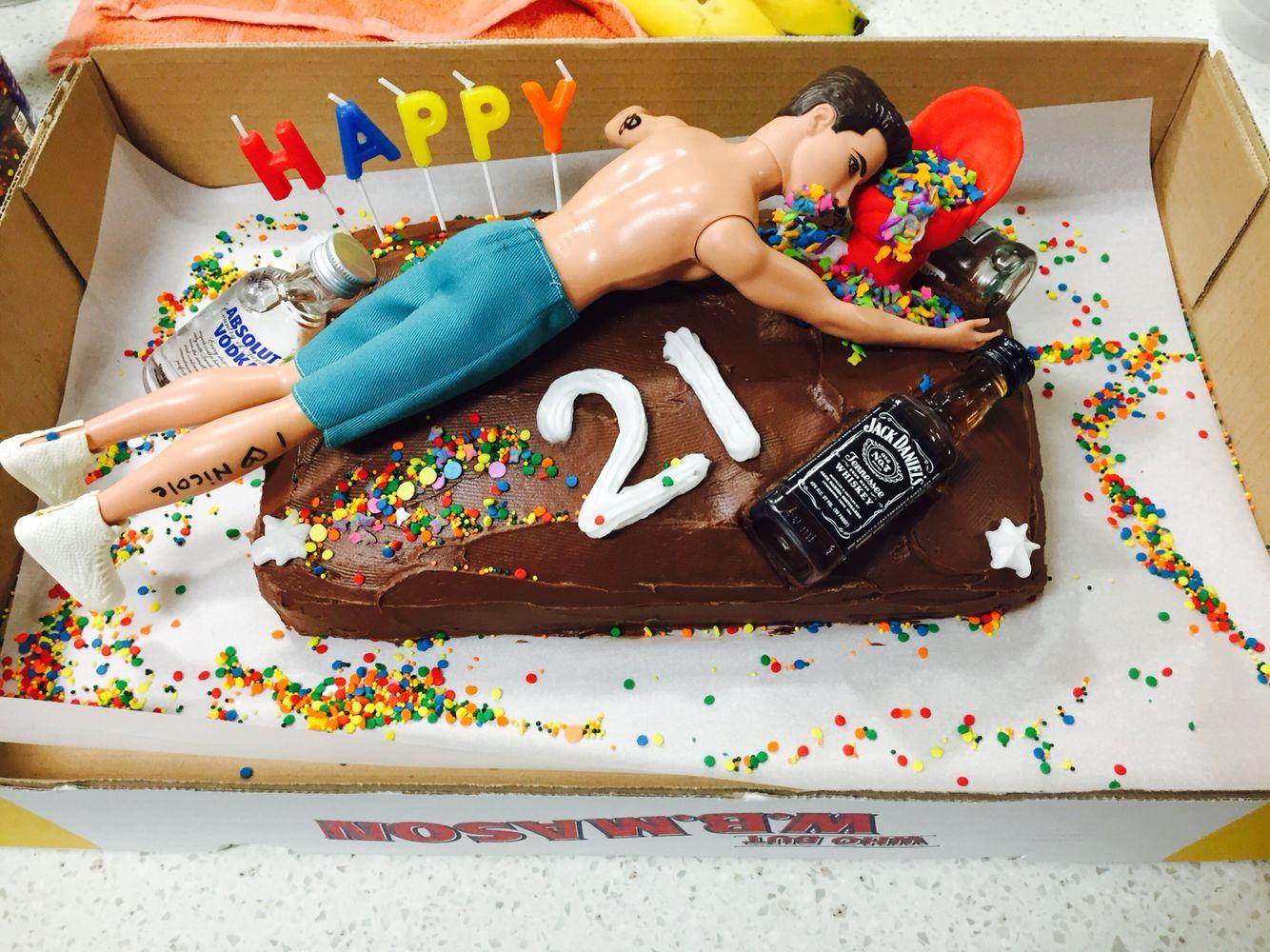 DIY 21 birthday cake 21st birthday cake for guys, Diy