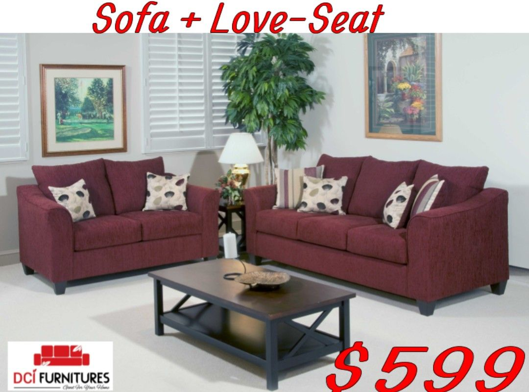 Corduroy Fabric Sofa And Loveseat On For 599
