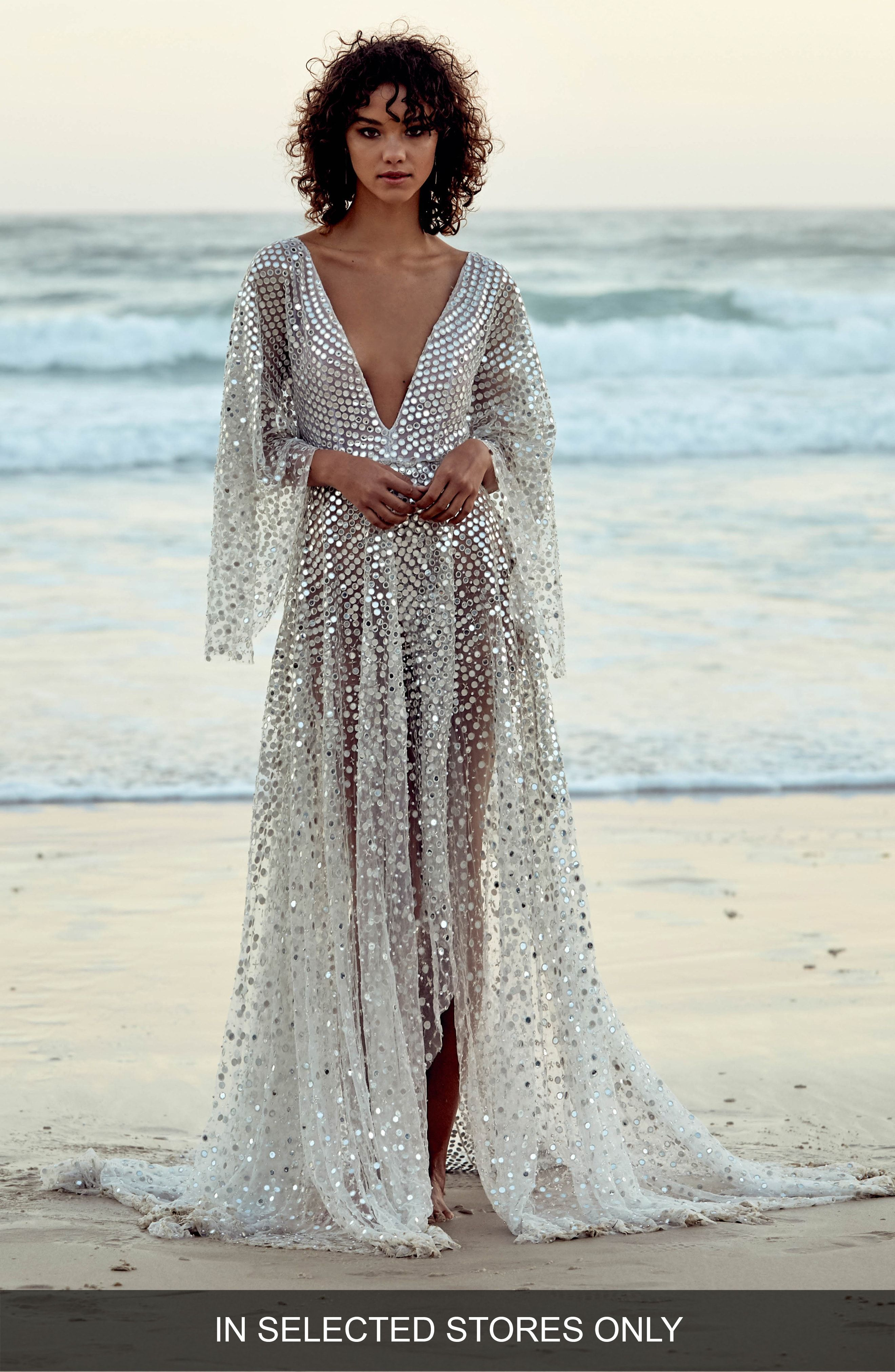 Toby custom embellished highlow gown chosen by one day nordstrom