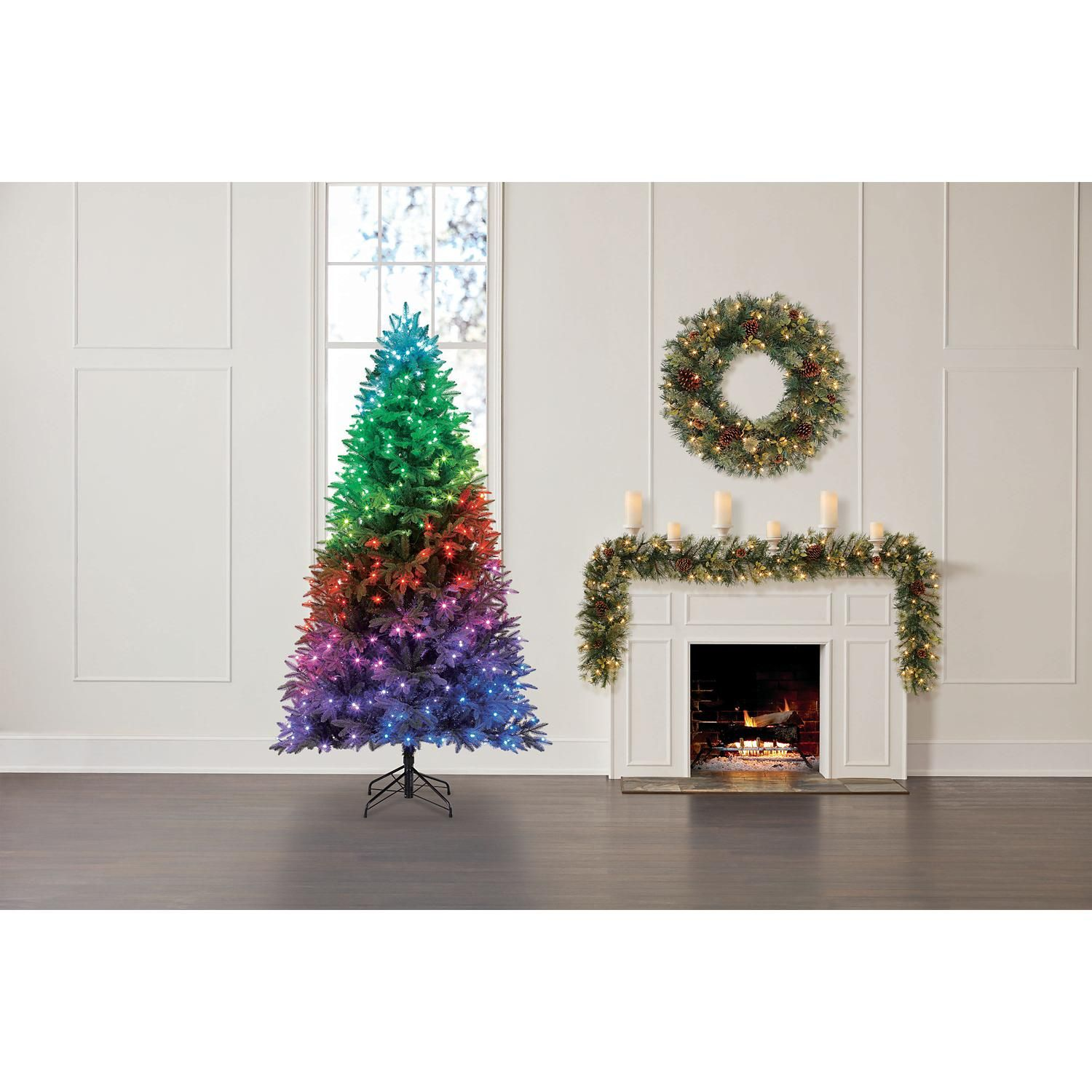 Member S Mark Twinkly 7 5 Smart App Programmable Color Changing Christmas Tree Sam S Club Fir Christmas Tree Douglas Fir Christmas Tree Faux Christmas Trees
