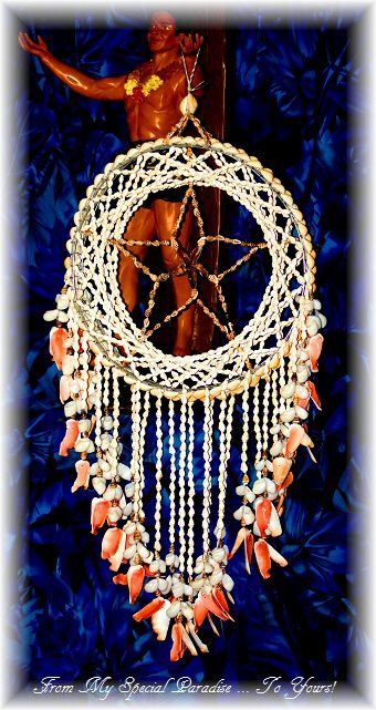Hawaiian Dream Catcher RARE Find Hawaiian Seashell Dream Catcher Shells from Haleiwa 4