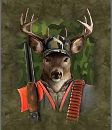 Signature Collection Find 9 Deers Fleece Throw