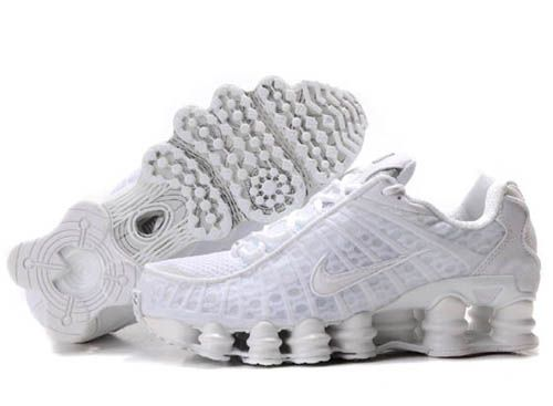 09c99fbb3335 Nike Shox TL1 Men Shoess - All White has the ability to shape air  cushioning as well as offer flexible