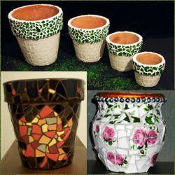 Macetas con mosaicos macetas pinterest macetas - Como pintar mosaicos ...