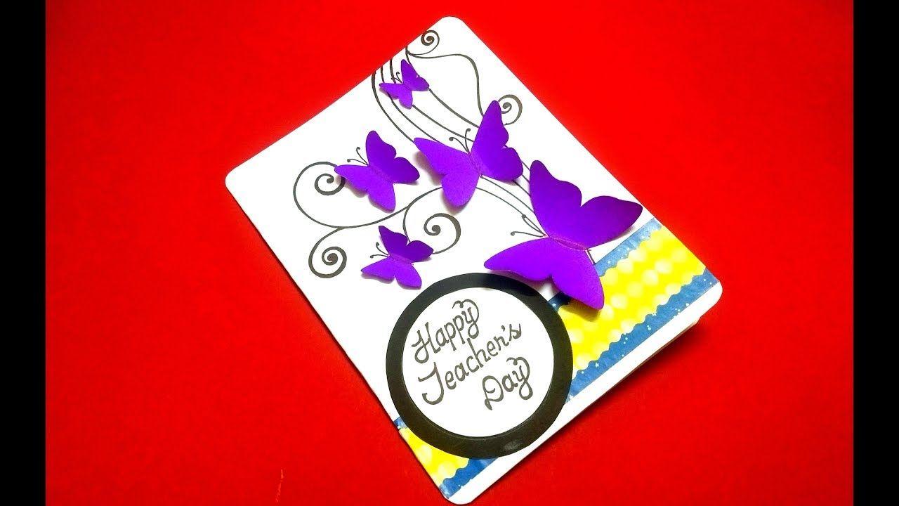 beautiful handmade pop up card for teacher's day  teacher