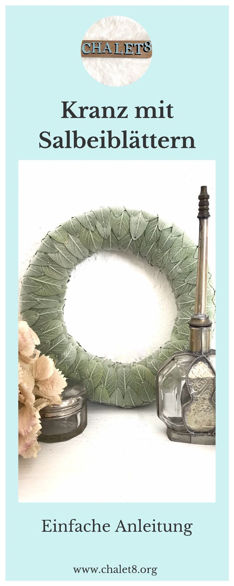 Photo of DIY: Make a fragrant wreath of sage yourself – Chalet8