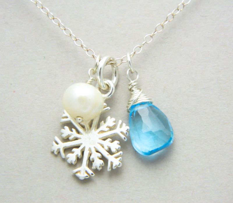 Superb Jewellery Christmas Gifts Part - 14: Christmas Jewelry, Snowflake Necklace, Winter Wedding Jewelry, Christmas  Gift, Bridesmaid Necklace, Bridesmaid Jewelry. $38.00, Via Etsy.