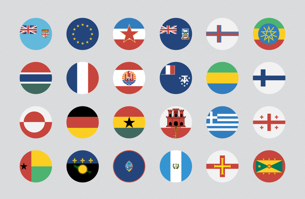 255 Flat & Vector Circular Flag by CustomIconDesign on @creativemarket