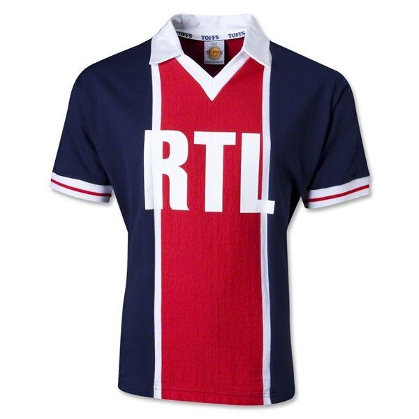 brand new 5da04 3b480 PSG 81/82 RTL Vintage Soccer Jersey | Football Kit Design ...