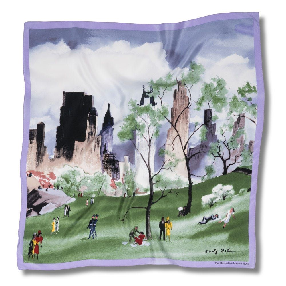 Dehn Spring in Central Park Scarf | The Met Store