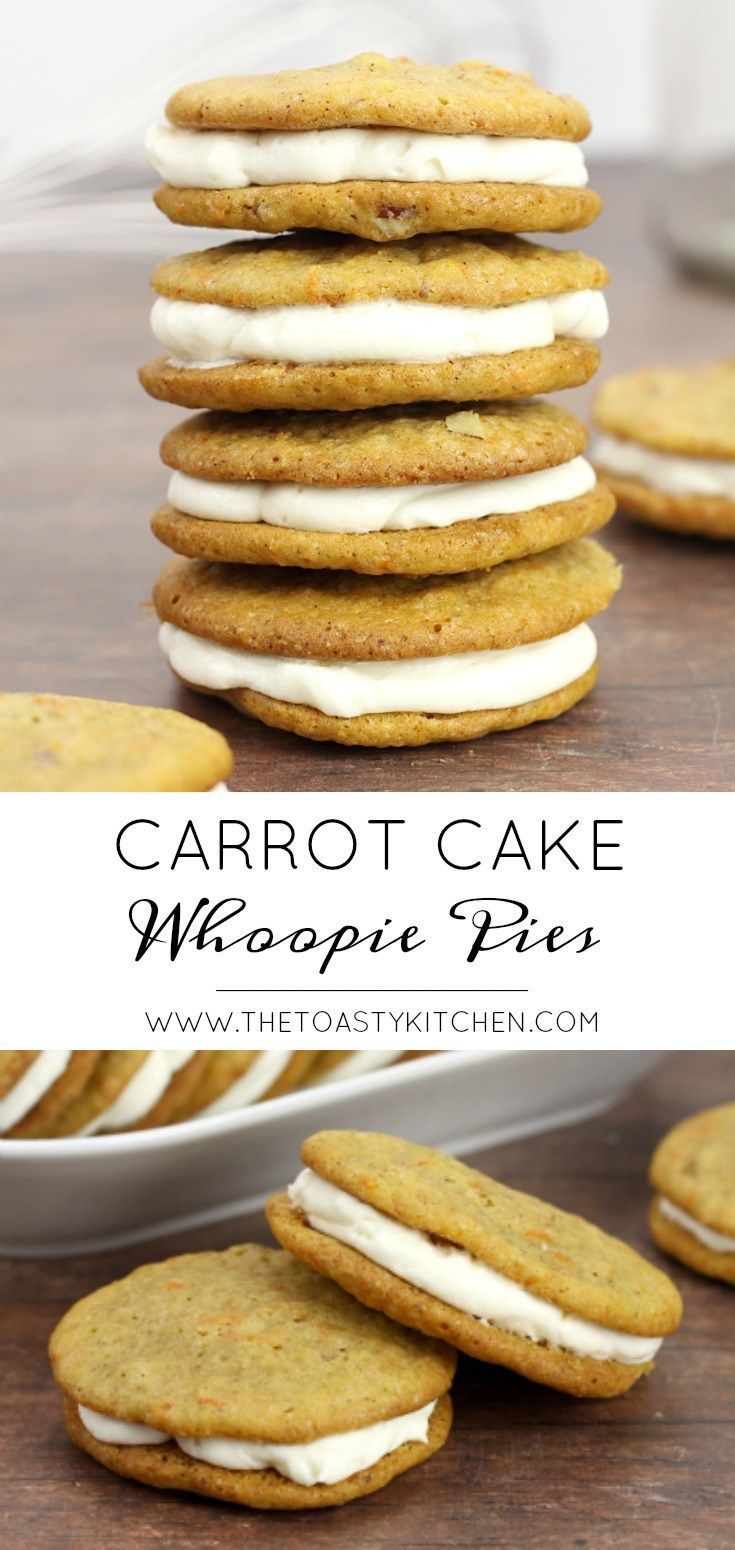 Carrot Cake Whoopie Pies - The Toasty Kitchen