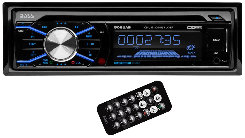 + 4-Channel Amplifier Amp Kit JVC KDR490 Car Radio USB AUX CD Player Receiver Bundle Combo with 4X 6.5 Inch 300-Watt 2-Way Black Audio Coaxial Speakers