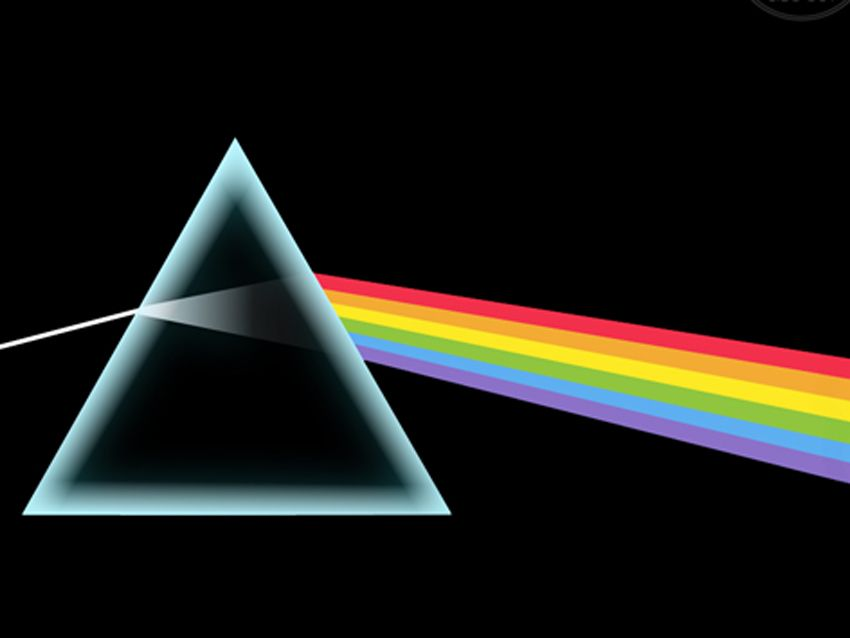 """Simple, iconic and artistically pleasing, the cover of Pink Floyd's legendary opus """"Dark Side Of The Moon""""."""
