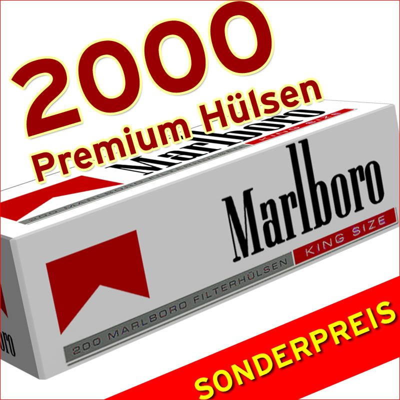 2000 Marlboro Red King Size Hülsen Zigarettenhülsen