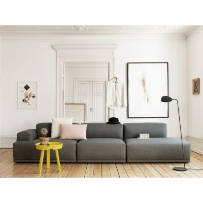 Muuto - Connect Sofa Eckelement A (Arml links) Grau (Steelcut - Wohnzimmer Grau Orange