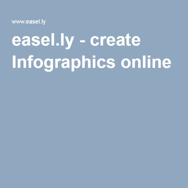 easel.ly - create Infographics online