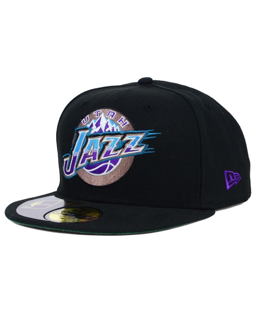 New Era Utah Jazz Retro 59fifty Cap Sports Fan Shop By Lids Men Macy S Utah Jazz Nba Gear Fan Style