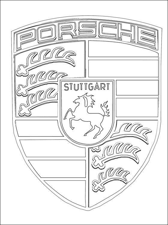 malvorlagen porsche emblem  ausmalbilder kostenlos und