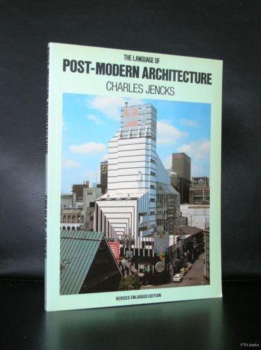 Charles Jencks Post Modern Architecture 1977 Nm Post Modern Architecture Modern Architecture Architecture