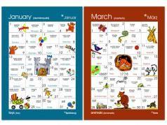 Dauerkalender DeutschEnglisch Wortfelder, Lehrmaterial